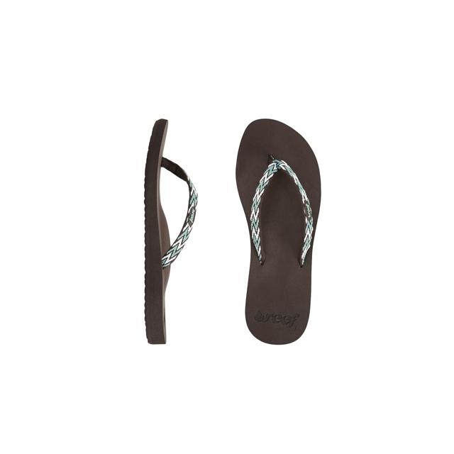 Reef - Ginger Drift Flip-Flop - Women's-Brown Aqua White-8