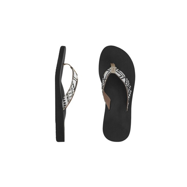 Reef - Midday Tides Flip-Flops - Women's-Black/White-8