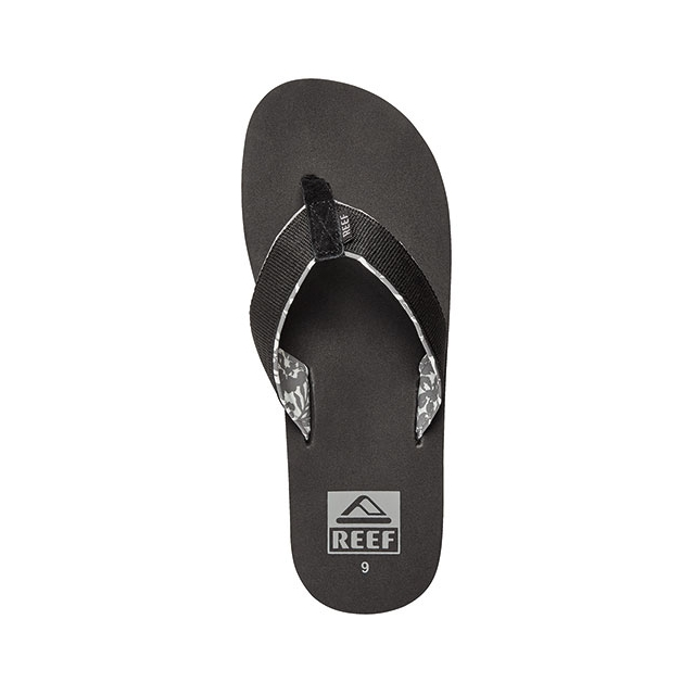 Reef - Ponto Prints Sandals - Men's: Black, 9