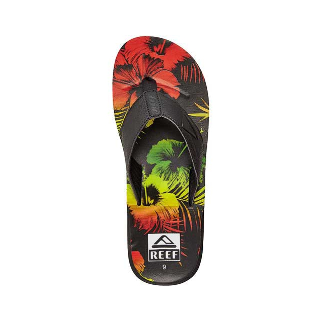 Reef - HT Prints Sandals - Men's: Black Mai Tai, 8