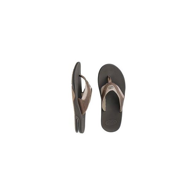 Reef - Leather Fanning Sandal - Men's - Brown/Brown In Size