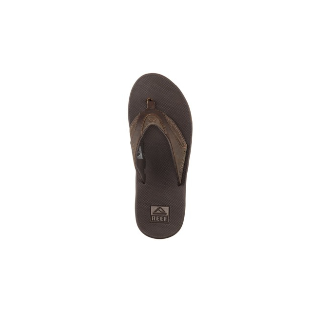 Reef - Fanning Leather Flip Flop - Men's-Brown-8