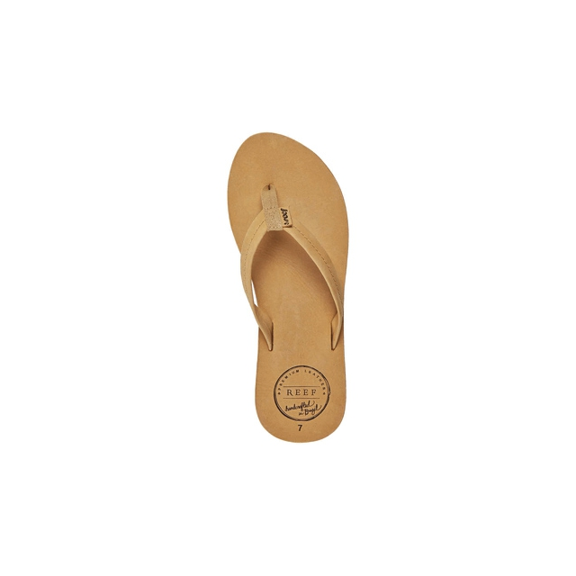 Reef - Chill Leather Flip-Flops - Women's-Tobacco-6