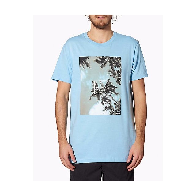 Reef - - PALMDOTS TEE - small - Light Blue