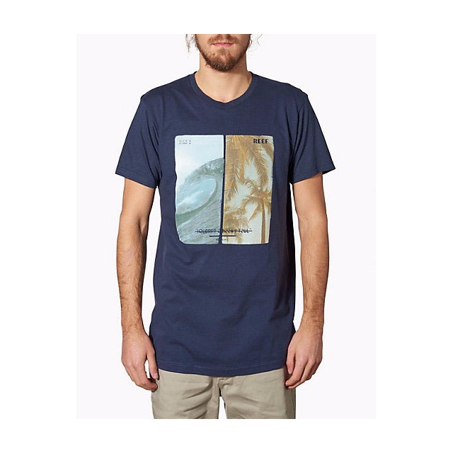 Reef - - SINKERS AND BARRELS TEE - small - Indigo