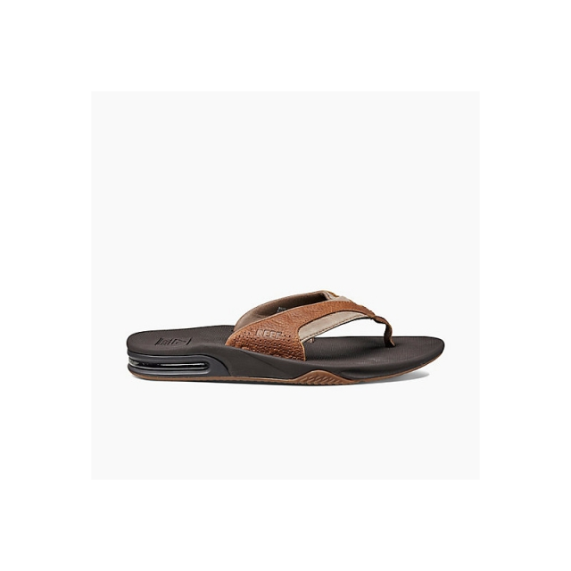 Reef - Mens Leather Fanning - Closeout Brown/Brown 8