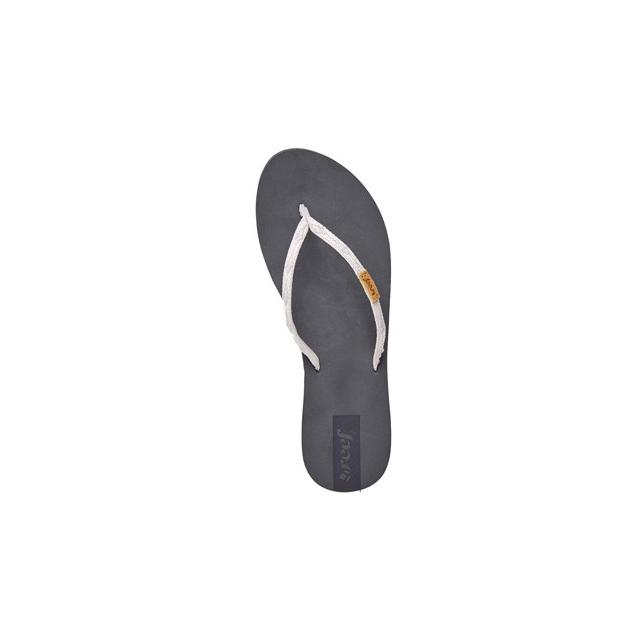 Reef - Slim Ginger Flip Flop - Women's-Grey/Silver-6