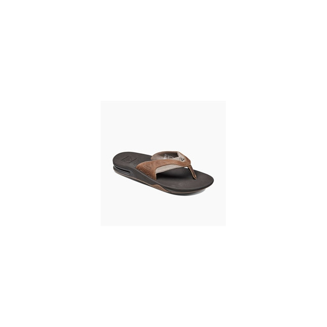 Reef - Leather Fanning Flip-Flops - Men's - Brown/Brown In Size: 14