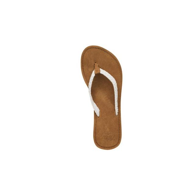Reef - Gypsy Macrame Flip Flop - Women's-Cream-5
