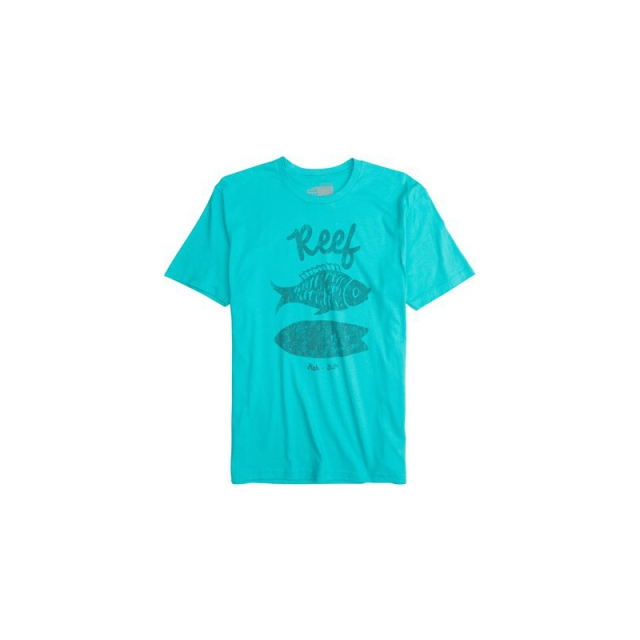 Reef - Mens Reef Crusty Fish - Sale Aqua Large