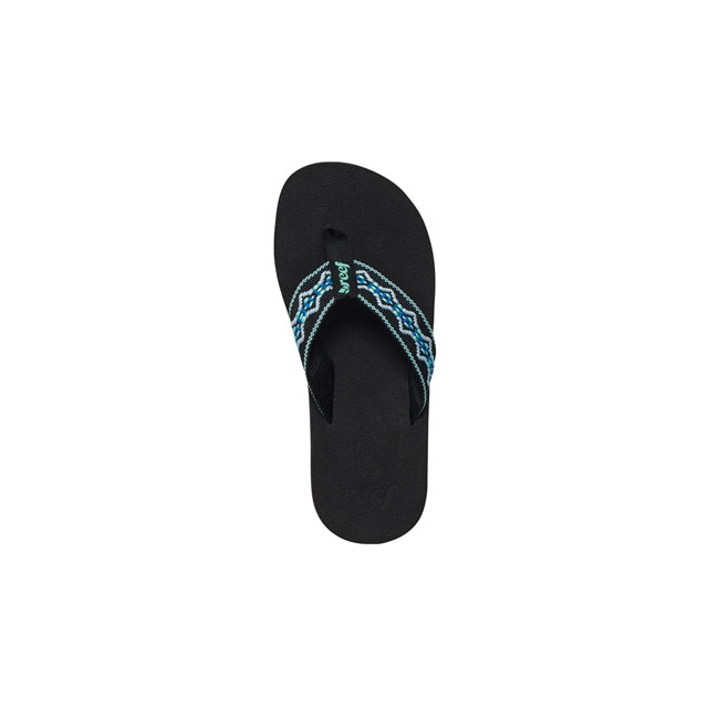Reef - Sandy Flip Flop - Women's-Black/Aqua/Blue-6
