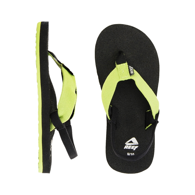 Reef - Todos Sandals - Little Kids: Black/Green, 3-4