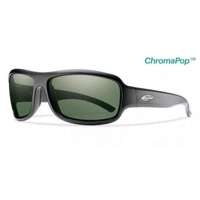 Smith Optics - Drop Elite Matte Black ChromaPop +  Elite Polarized Gray Green