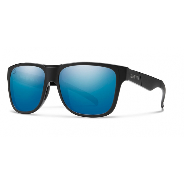 Smith Optics - Lowdown XL Matte Black - Salty Crew ChromaPop Polarized Blue Mirror