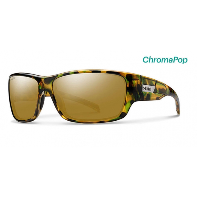 Smith Optics - Frontman Flecked Green Tortoise ChromaPop Polarized Bronze Mirror