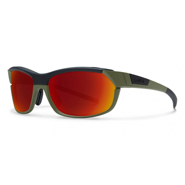Smith Optics - PivLock Overdrive Matte Olive Black Red Sol-X Mirror