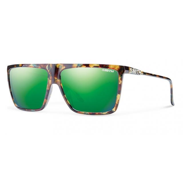 Smith Optics - Cornice Flecked Green Tortoise Green Sol-X Mirror