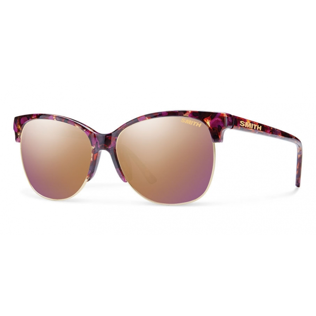 Smith Optics - Rebel Flecked Mulberry Tortoise Rose Gold Mirror