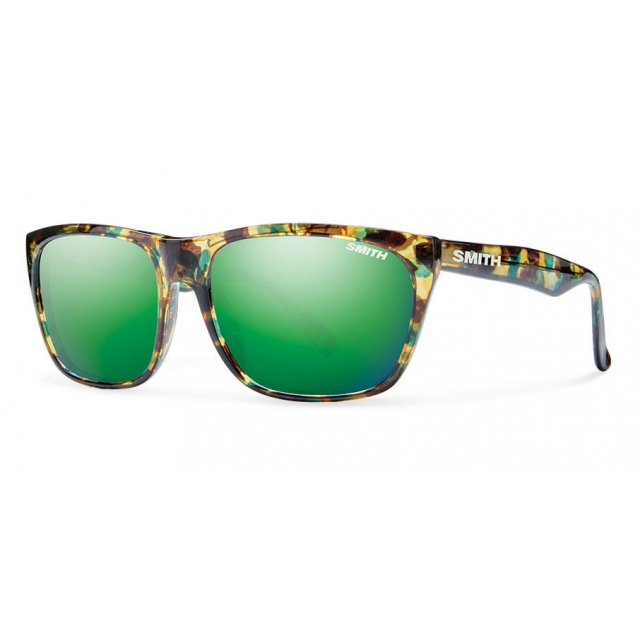 Smith Optics - Tioga Flecked Green Tortoise Green Sol-X Mirror