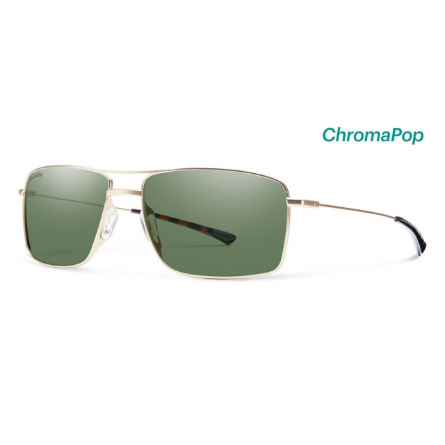 Smith Optics - Turner Matte Gold ChromaPop Polarized Gray Green