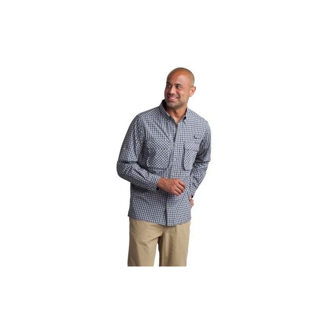 ExOfficio - Men's Air Strip Micro Plaid Long Sleeve Shirt