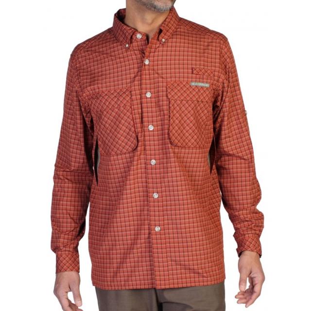 ExOfficio - Air Strip Micro Plaid Long Sleeve Shirt