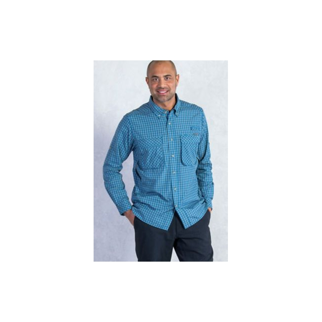 ExOfficio - Men's Air Strip Micro Plaid Long Sleeve Shirt