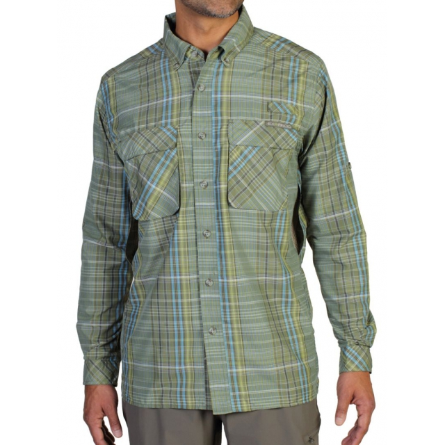 ExOfficio - Air Strip Macro Plaid Long Sleeve Shirt