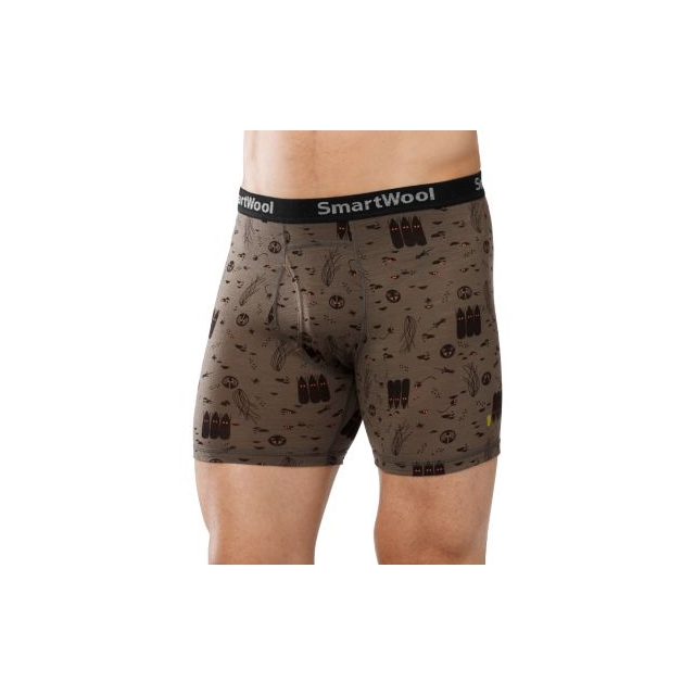 Smartwool - Men's NTS 150 Boxer Brief: Charley Harper National Park Poster Night Animals