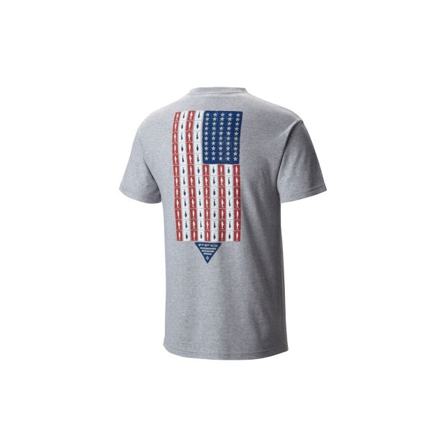 Columbia - Men's PFG Americana Fish Flag SS Tee