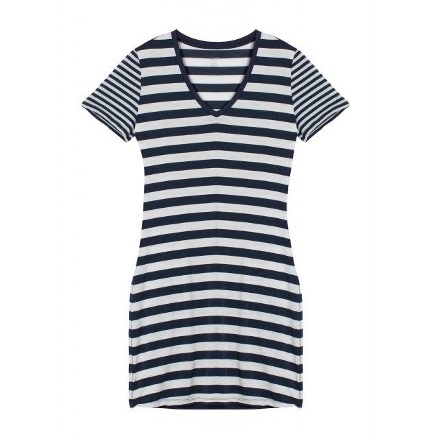 Icebreaker - Women's Tech Lite SS V Dress Stripe