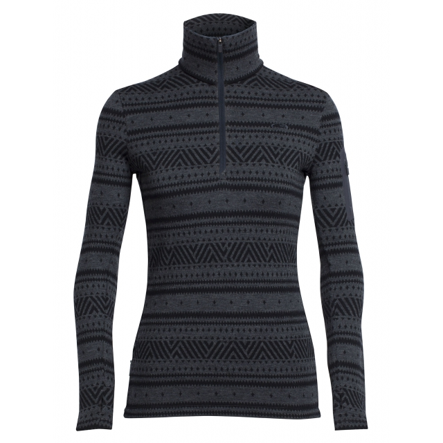 Icebreaker - Women's Vertex LS Half Zip Icon Fairisle
