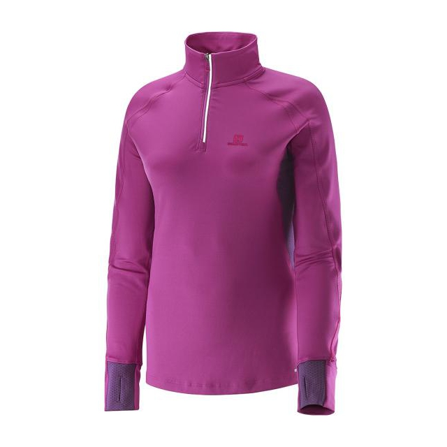 Salomon - Trail Runner Warm S Zip Tee W