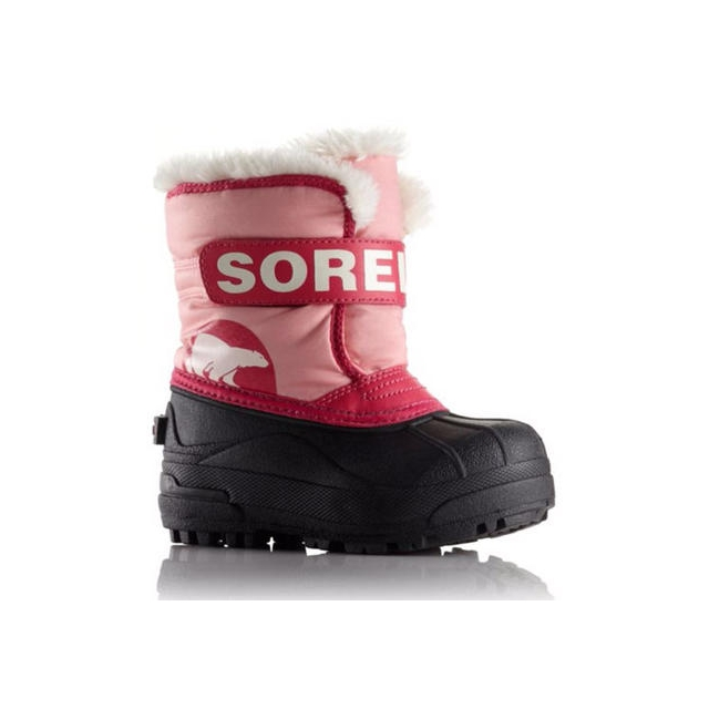 Sorel - Snow Commander Waterproof Boot Little Kids', Coral Pink/Bright Rose, T5
