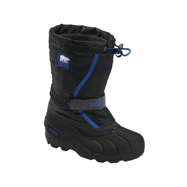 Sorel - Flurry TP Boots - Youth: Black/Bright Blue, 1