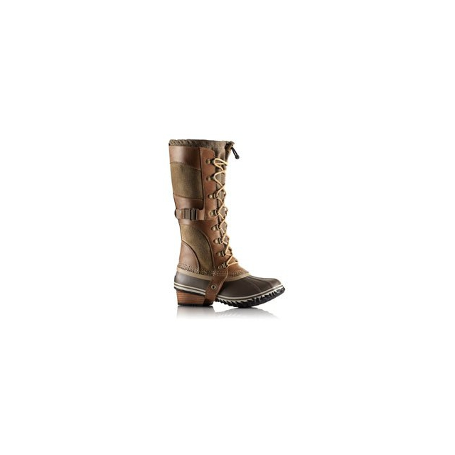 Sorel - Conquest Carly Boot - Women's - British Tan/Black In Size: 11