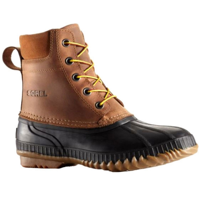 Sorel - Cheyanne Lace Full Grain Leather Boot Mens - Black Chipmunk 12