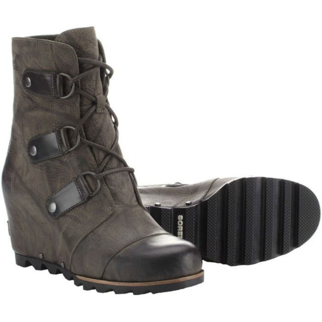 Sorel - Joan Of Arctic Wedge Mid Boot Womens - Grill/Black 9
