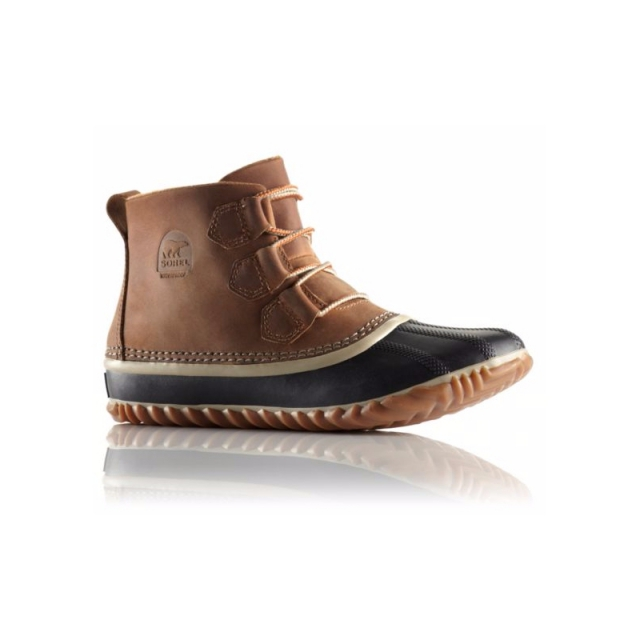 Sorel - Womens Out N About Leather Boot Elk 6