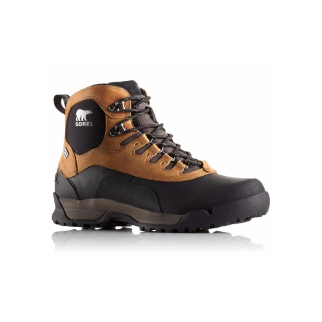 Sorel - Mens Paxson Outdry Waterproof Boot - Closeout Elk/Black 12