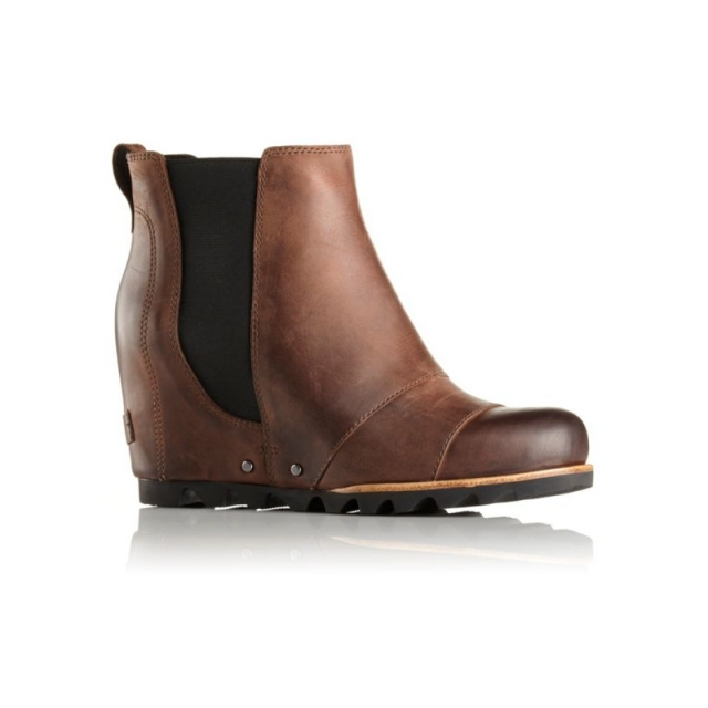 Sorel - Womens Lea Wedge Boot Umber/Black 7