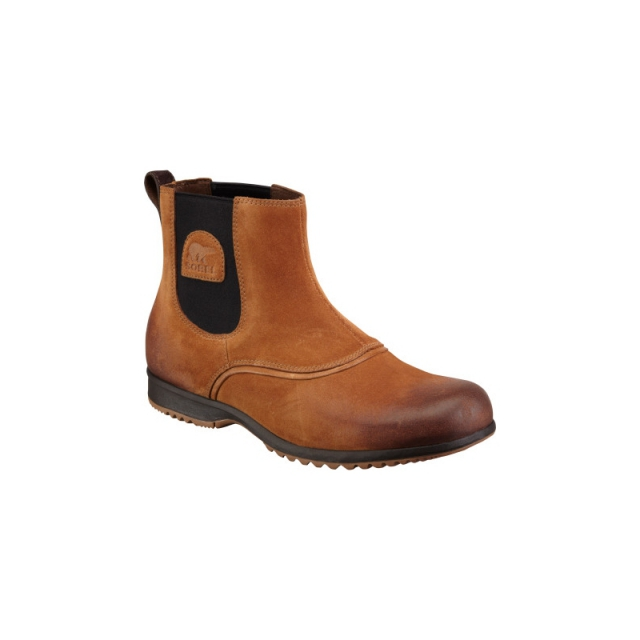 Sorel - Mens Greely Chelsea Boot - Closeout Elk 11.5