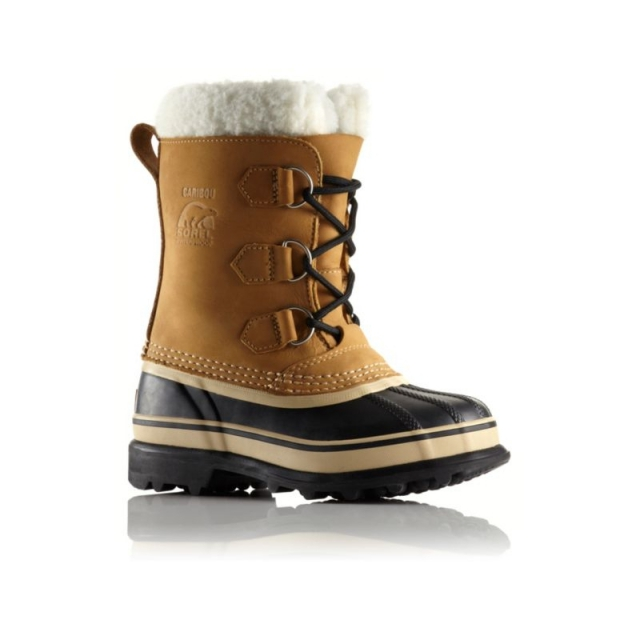 Sorel - Youth Caribou Boot - Closeout Buff 1