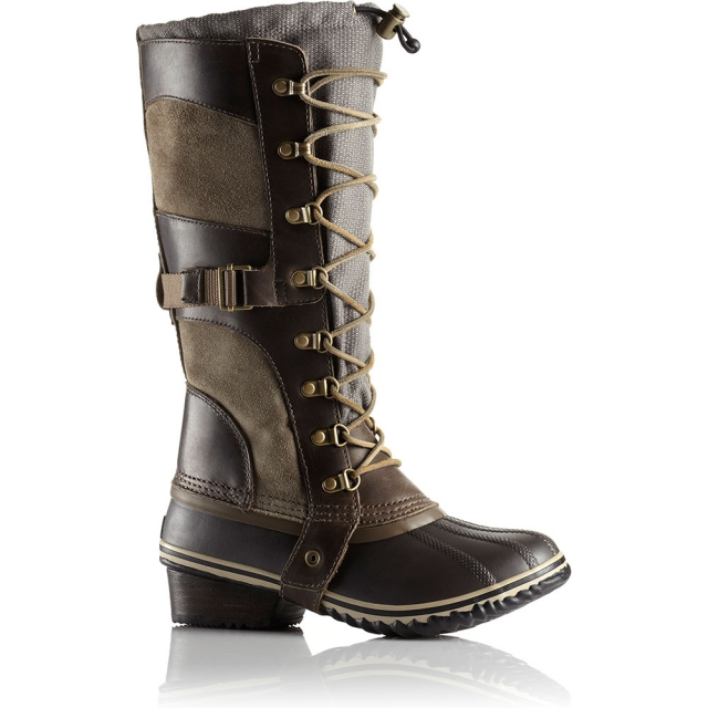 Sorel - Conquest Carly Boots Womens - Camo Brown Pebble 7