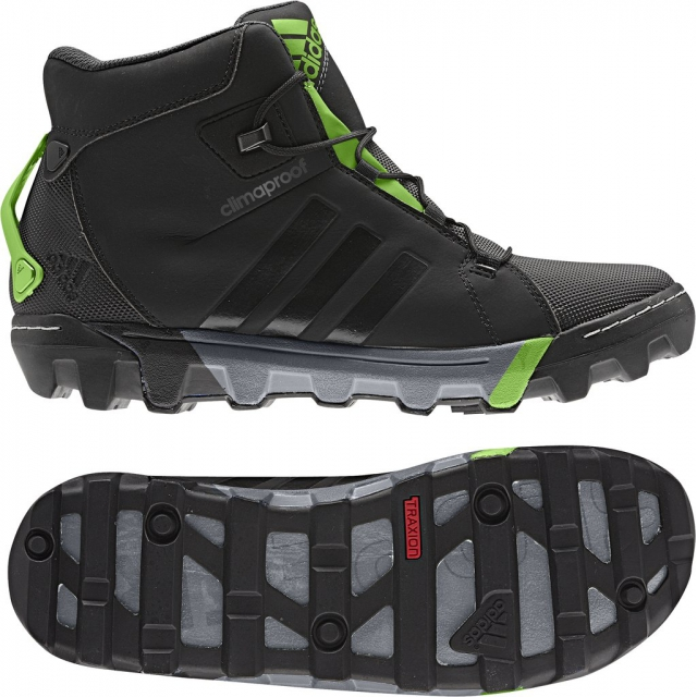 Adidas - SlopeCruiser CP Snow Boot - Men's Black/Ray Green 7