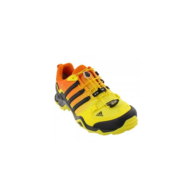 Adidas - Terrex Swift R GORE-TEX Hiking Shoe Men's, Brite Yellow/Black/Unity Orange, 10