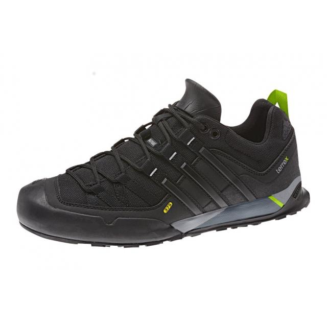Adidas - Terrex Solo Stealth Hiking Shoe - Men's Black/Black/Solar Slime 10