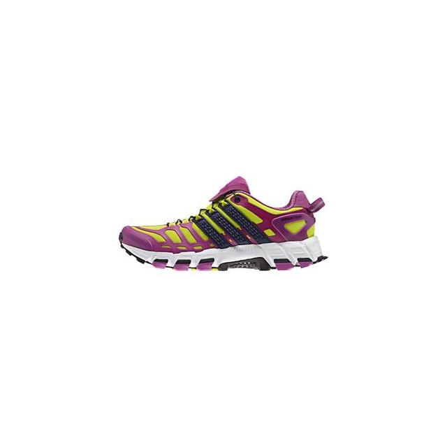 Adidas - adistar Raven 3 Running Shoe Women's, Semi Solar Yellow/Night Sky/Lucky Pink, 10