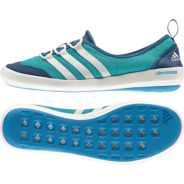 Adidas - Climacool Boat Sleek Shoe Womens - Vivid Mint/Chalk White/Vista Blue 9.5