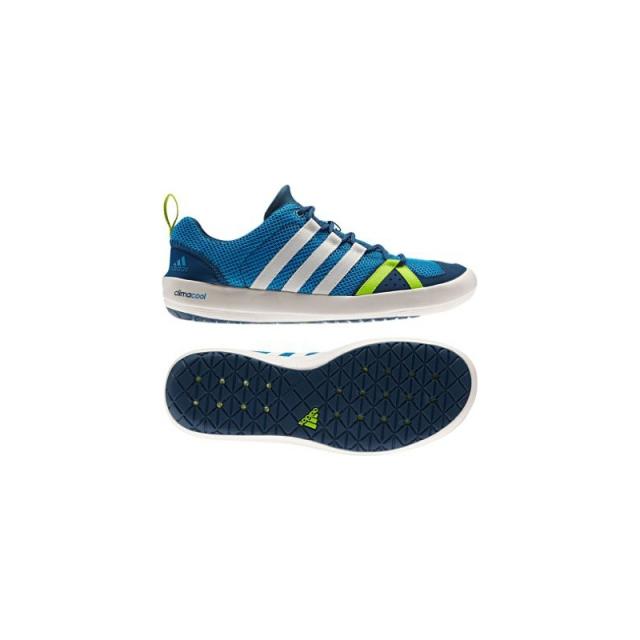 Adidas - Mens Climacool Boat Lace Shoe - Sale Solar Blue/Chalk/Solar Slime